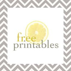 A bowl full of lemons.: Free printables...