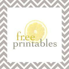A bowl full of lemons.: Free printables...