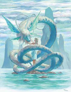 Ice dragon and his princess.