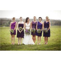 Various purple dresses
