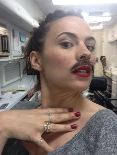 Oct 1: Hayley Atwell tweets @dominiccoop Howard Stark left his moustache on set today and it wondered off...