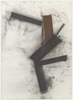 """Untitled"", 1988 // Joel Shapiro (American, born 1941) #art #painting #abstract"