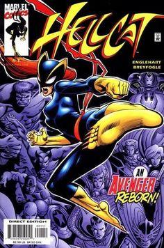 Hellcat - An Avenger Reborn (Issue) Superhero Characters, Comic Book Characters, Comic Character, Comic Books Art, Comic Art, Female Characters, Book Art, Marvel Women, Marvel Heroes