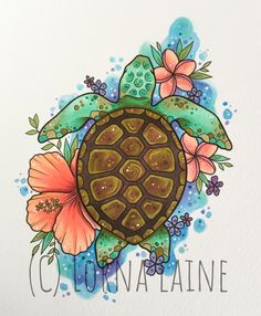 Traditional Tattoo Animals, Traditional Tattoo Art, Outline Drawings, Art Drawings, Animal Drawings, Turtle Tattoo Designs, Sea Turtle Tattoos, Initial Tattoo, Sea Turtle Art