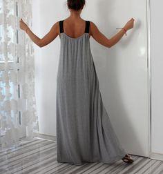 A line dress/ Maxi dress/ Long Maxi dress/ by cherryblossomsdress