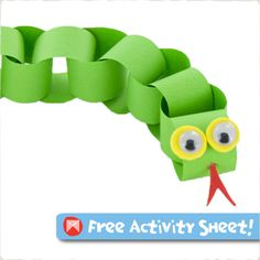 Transform a paper chain into a radical reptile - Click for free downloadable activity sheets.