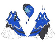 Blue Jay Dress Design by *Eranthe on deviantART