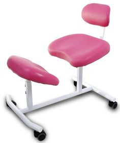 Pink Kneeling Chair Adjustable Knee Stool Balans Lower Back Lumbar Support
