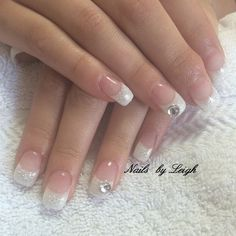 Simple French with a hint of glam. Nails by Me! #nailsbyleighdanielle