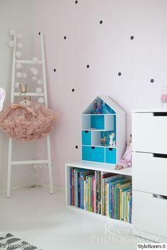 lastenhuone,lastenhuoneen sisustus,kirjahylly,ikea,talohylly