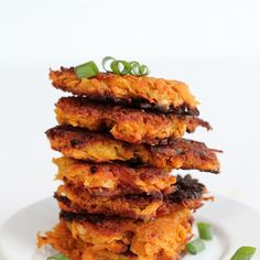 Sweet Potato Hash Browns Recipe Side Dishes with sweet potatoes, eggs, almond flour, sea salt, green onions, coconut oil