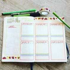 """35 mentions J'aime, 1 commentaires - Samely BR (@that.is.the.point) sur Instagram: """"Page hebdomadaire mars avril. Le printemps sera revenu ! #bulletjournal #frenchbulletjournal…"""""""