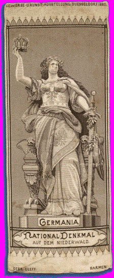 Victorian Bookmarks: The Statue of Germania, Niederwald, Germany