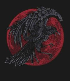 Crow by Bullet Bacalzo Crow Art, Raven Art, Dark Fantasy Art, Dark Art, Rabe Tattoo, Kunst Tattoos, Arte Obscura, Crows Ravens, Viking Tattoos