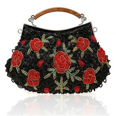 fashion brand ethnic clutch evening bags minaudiere clutch floral embroidered clutch small chain shoulder messenger bags WY14