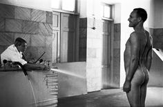 Charcot shower, 1938. This was a popular spa hydrotherapy, designed by Paris doctor Jean-Martin Charcot. Among many other achievements, Charcot gained fame for inventing the power jet shower. Caucasus Mineral Waters, Kislovodsk. Stavropol' region