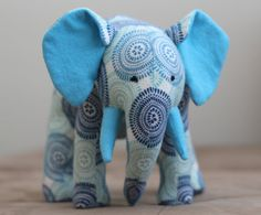 Stuffed Animal Baby Elephant Handmade plush softie by janettsue, $26.00