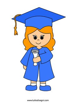 Fine anno scolastico - Bambina con diploma - Tutto Disegni Graduation Clip Art, Graduation Decorations, Graduation Ideas, Kindergarten Bulletin Boards, Kindergarten Graduation, Drawing For Kids, Art For Kids, Orla Infantil, Cartoon Template