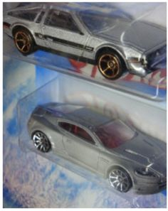 Santas Tools and Toys Workshop: Toy: Hot Wheels Detailed Diecast '81 Delorean DMC-12 - 10 Aston Martin DBS 1:64 Scale