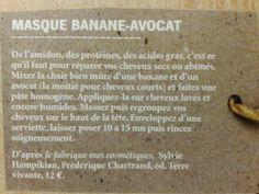 Masque banane-avocat