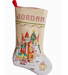 Bucilla ® -Counted Cross Stitch - Stocking Kit by Mary Engelbreit ® - Santa & the Gang! Bring back memories of your favorite Christmases every year with this beautiful, traditional design.