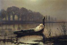 John Atkinson Grimshaw - The Lady of Shalott, 1875.