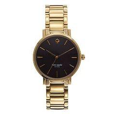 Kate Spade Gramercy Watch - Gold with black face ($225, Holt Renfrew)