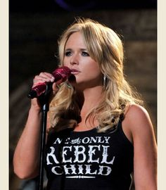 miranda lambert in her REBEL CHILD BIKER TANK -   {Junk GYpSy co. - gypsyville.com/... }