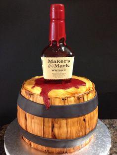 Maker's Mark Barrel Cake