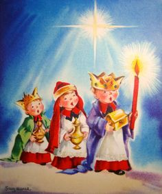 Old Christmas Post Card — Vintage 'Three Kings' Christmas Card Images, Christmas Graphics, Christmas Post, Christmas Scenes, Christmas Nativity, Vintage Christmas Cards, Retro Christmas, Christmas Carol, Christmas Pictures