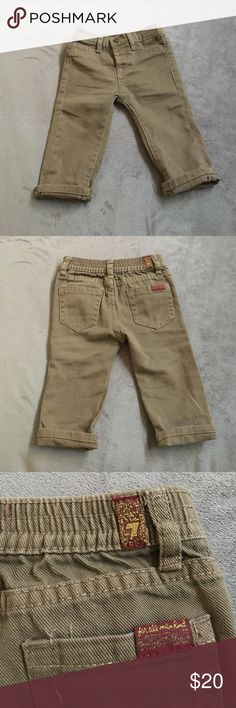 Boy's jeans Adorable khaki color jeans. 7 for all mankind. Worn once for photo shoot. Excellent condition! Easy to match 7 For All Mankind Bottoms Jeans