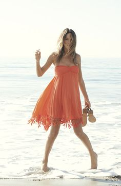 Roxy Native Breeze Cover-Up Dress | Nordstrom  I could easily DIY the fringe bottom on this dress!