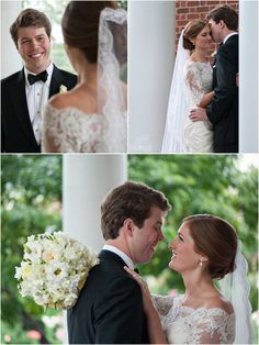 Leslie and Hugh, First Look, Christ Episcopal Church, Charlotte Country Club, Dress: Nitsa'a Apparel, Piper Warlick Photography, Hall & Webb Event Design, Charlotte Wedding Planner