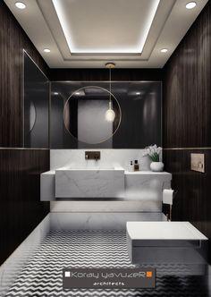 Bathroom sink and vanity Contemporary Bathroom Designs, Modern Bathroom Design, Bathroom Interior Design, Washroom Design, Bathroom Wall Decor, Bathroom Sets, Small Bathroom, Luxury Toilet, Bathroom Design Inspiration