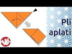 SÍMBOLOS DOS DIAGRAMAS - Débuter en Origami - Réaliser un pli aplati (Squash Fold) [Senbazuru] - YouTube