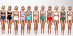 Sims 4 Look Books And CC Finds — High Waisted Swimsuits Hair [xx] - @darkosims3 ...