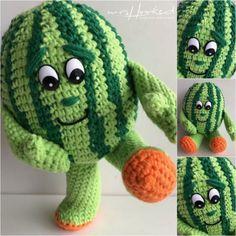 gratis haakpatroon Archieven - Freubelweb :Freubelweb Amigurumi Patterns, Crochet Patterns, Crochet Dolls, Crochet Hats, Crochet Fruit, Chrochet, Crochet For Kids, Needlework, Free Pattern