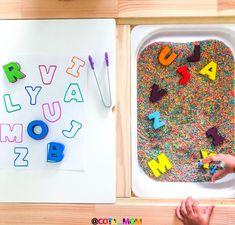 Sensory Activities, Kindergarten Activities, Educational Activities, Preschool Activities, Sensory Table, Sensory Bins, Sensory Play, Montessori, Magnetic Letters
