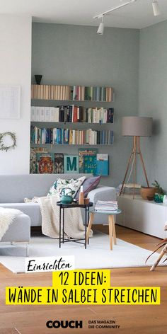 Wandfarbe Trend color sage: the most beautiful ideas with the trendy wall color! Decor, Home Accents, Room, Interior, Home Decor, Interior Design, Coffee Table, Wall Color, Living Room Tv
