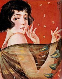 Takabatake Kasho  (1888-1966) Make Tattoo, Japanese Illustration, Decoupage, Retro Art, Traditional Art, Japanese Art, Mona Lisa, Disney Characters, Fictional Characters