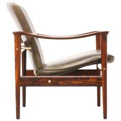 Fredrik Kayser Model-711 Rosewood Lounge Chair for Vatne Lenestolfabrikk