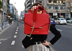 Red Maestoso Leather Bag