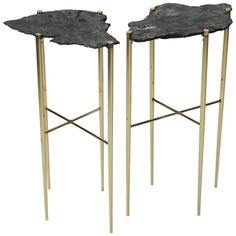 Pair of Meteorite Cocktail Tables | From a unique collection of antique and modern coffee-tables-cocktail-tables at https://www.1stdibs.com/furniture/tables/coffee-tables-cocktail-tables/