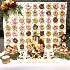 Donut Wall - who knew this was a thing.  Love it now that I do!