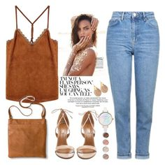 """""""Untitled #1620"""" by anarita11 ❤ liked on Polyvore featuring Topshop, Aquazzura, Merona, Alexis Bittar and Terre Mère"""