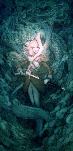 Illustration art painting digital art Sirfish