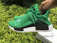 df096d54744 Discount Pharrell X Adidas Nmd Human Race Green-Footwear White-Black