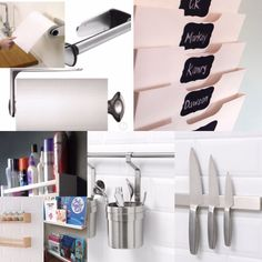 Other than a kettle, toaster & coffee machine, ideally the rest of our work surfaces should be clear. Cleared work tops allow more working area and give a greater impression of space. Work Surface, Work Tops, Working Area, Toilet Paper, Larger, Kitchens, Tips, House, Ideas