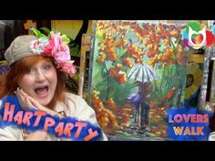 How to paint Lovers Walk a rainy day encounter full online free tutorial home painting party DIY - YouTube