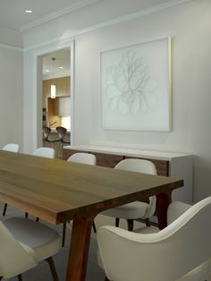 Modern Dining Room Oval Table Design, Pictures, Remodel, Decor and Ideas - page 8